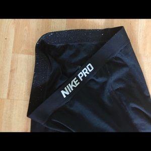 Black fleece lined Nike pro leggings